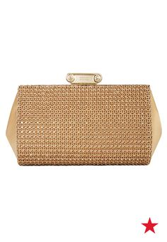 Need a glam statement piece for the company party this year? We've got just the thing: Badgley Mischka's oh-so-chic Cybil clutch