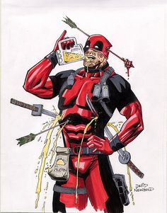 #Deadpool #Fan #Art. (Deadpool) By: David Newbold. (THE * 5 * STÅR * ÅWARD * OF: * AW YEAH, IT'S MAJOR ÅWESOMENESS!!!™) ÅÅÅ+