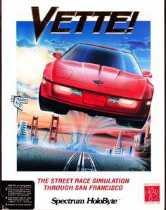 Vette! è il free roaming automobilistico 3D di fine anni 80. Semplicemente unico e straordinario per l'epoca... #Passioneretrogaming #pcdos #dos #vette #retrogaming #freeroaming #corse #sanfrancisco #videogiochi 8 Bit, Hercules, Corvette, Arcade, Videogames, The Past, San Francisco, Journey, Racing