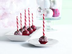 Candy Cane Brownie Pops with vegan recipe alterations!