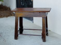 Primitive Antique Bench or Side Table by RepeatOffenders on Etsy