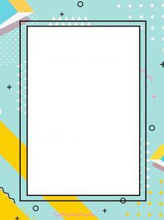 Colorful Border Decoration Memphis Background Cute Wallpapers, Wallpaper Backgrounds, Colorful Backgrounds, Powerpoint Background Design, Background Templates, Geometric Background, Slide Background, Fashion Background, Presentation Backgrounds