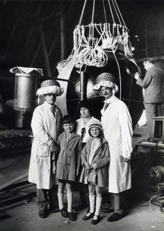 Auguste Piccard with the capsule of his stratospheric balloon, 1931