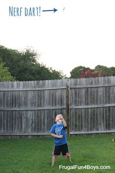 Build a Nerf dart shooter - Wow, this thing gets some major distance!  PVC pipe, balloon, duct tape.