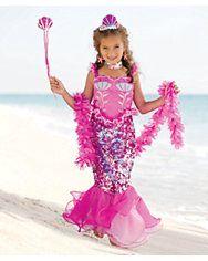 pink fairytale mermaid girls costume