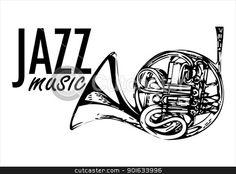 jazz logo 3 stock vector