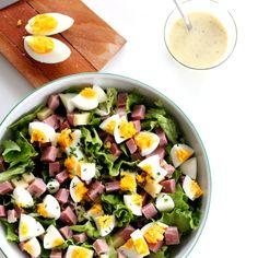 Salade du Chef au jambon, oeuf et gruyère