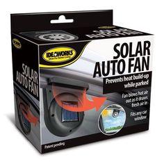 Ideaworks Solar Auto Cooling Fan - Car Window Solar Fan #Ideaworks