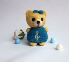 Needle Felted Bear Notka by Valyashki on Etsy