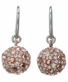 Fossil Crystal Drop Earring #accessories  #jewelry  #earrings  https://www.heeyy.com/suggests/fossil-crystal-drop-earring-rose-gold/