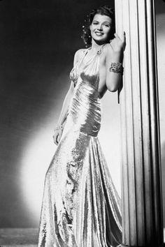 Rita Hayworth wearing Joseff Hollywood Jewelry
