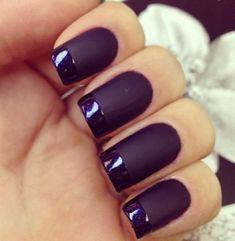 Matt vs gloss purple nails