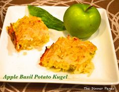 Apple Basil Potato Kugel-a fresh take on traditional potato kugel for Rosh Hashanah! L'Shana Tova!