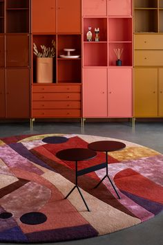 DAHLIA is inspired by the colors of the wild and delicate flower, and also inspired by modern architecture and 1930s functionalism through geometric and flowing shapes. The design depicts the urban vibe in an abstract pattern. The color scheme interlaces brick reds, auburn, dark maroons, plum purples. Dashes of cadmium orange and pitch black accentuate the overall warm tone scale of this design.  Design: Dagny Thurmann-Moe & Ksenia Stanishevski Plum Purple, Abstract Pattern, Auburn, Dahlia, Modern Architecture, Color Schemes, Functionalism, Kids Rugs, Warm