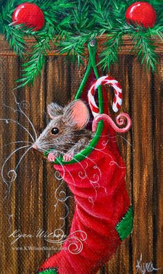 Hey, I found this really awesome Etsy listing at http://www.etsy.com/listing/166652278/christmas-mouse-mini-original-holiday