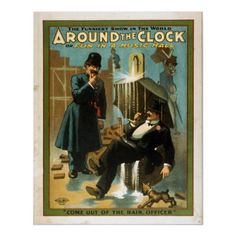 Around the Clock or Fun in a Music Hall Print