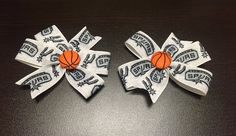 NBA San Antonio Spurs Logo  Set of 2 Hair Bow with by ByChinchie