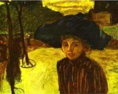 Pierre Bonnard - Woman In A Blue Hat 1908