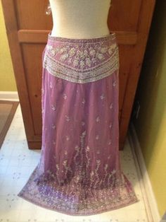 Vintage Beaded Embroidered Maxi Skirt Bohemian Indian Gypsy Ethnic Boho Hippy | eBay
