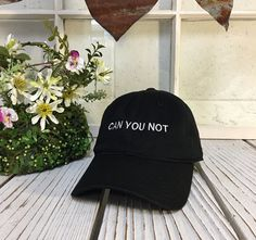 ✷ Baseball Cap Embroidered with Can You Not ✷ Choose color from drop down menu, see pictures for hat color palette✷ One Size adjustable strap, buckle design may vary✷ Cotton✷ Great fit and soft quality - Guaranteed! ✷Embroidered here at Prfct Wear - USA Dope Hats, Cute Caps, Embroidered Baseball Caps, Doja Cat, Dad Caps, Hat Hairstyles, Beanie Hats, Beanies, Shoes