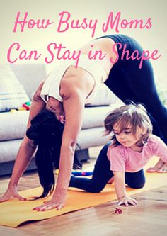 It's often hard for a busy mom to find the time for fitness, but it is 100% possible with a few easy and fun lifestyle changes. The key is getting the whole family on board with healthy, fun and fit activities. Click here to find: How Busy Moms Can Stay in Shape - http://www.active.com/kids/parenting-and-family/articles/how-busy-moms-can-stay-in-shape