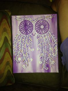 Owl Chi Omega canvas painting. Perfect for big and little crafting