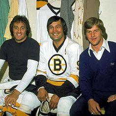 Phil Esposito, John Bucyk , and Bobby Orr. I Went to most games back then at Boston Garden! Hockey Teams, Hockey Players, Ice Hockey, Hockey Stuff, Rangers Hockey, Nhl, Phil Esposito, Boston Bruins Hockey, Chicago Blackhawks