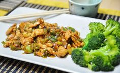 Mondi e Sapori: Gong Bao Ji Ding (o Kung Pao, Pollo alle arachidi) White Meat, Bao, Broccoli, Healthy Recipes, Chicken, Vegetables, Cooking, Diets, Zone Diet