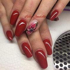 Cute Nails, Pretty Nails, Red Nails, Nails Inspiration, How To Do Nails, Nail Colors, Nail Designs, Nail Art, Pedicures