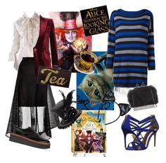 """Mad Hatter and Chesire Cat"" by tenshikichi ❤ liked on Polyvore featuring Alexander McQueen, Coast, Emilio Pucci, Tod's, Edie Parker, Twin-Set, Ted Baker, Maison Close, BCBGMAXAZRIA and contestentry"