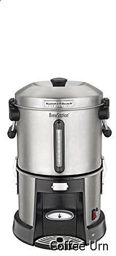 Coffee Urn - Hamilton Beach Commercial HCU045S Brewstation Coffee Urn 45 Cup, Removable Tank, Speed Brewing, One Hand Dispensing, Stainless Steel