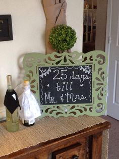 wine covers and sign for the entryway @ the stock the bar party...mr and mrs