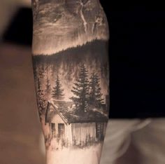 Cabin In The Woods-24 Most Amazing Illusion Tattoos