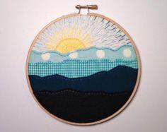 Solar System Embroidery Art  8 hoop celestial stars