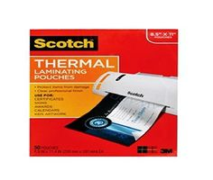 Scotch Thermal Laminating Pouches 8.9 x 11.4 Inches 3 mil, 20-Pack (TP3854-20) - These are 3 mil thick thermal laminating pouches for use with thermal laminators. It is a letter size pouch in a 20 pack for retail accounts.  - http://ehowsuperstore.com/bestbrandsales/office-products/scotch-thermal-laminating-pouches-8-9-x-11-4-inches-3-mil-20-pack-tp3854-20