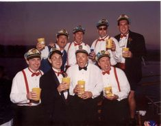 Groomsman Posing Happily How many groomsman do you need? Well there is a few happy gentlemen posing for a picture with the pacific ocean behind them. Boat Wedding, Yacht Wedding, Wedding Ideas, Newport Beach, Groomsmen Poses, Pacific Ocean, Gentleman, Captain Hat, Weddings