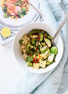 Brussels sprouts with coconut rice, from the Love and Lemons cookbook! @loveandlemons - cookieandkate.com
