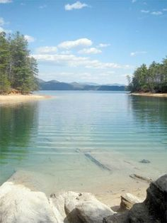 Lake Jocassee, SC // just a day trip away from #yeahTHATgreenville #greenville The water is COLD but the view is great! Quiet lake.