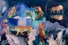 Journey to Zion — Miranda Gamel Contemporary Paintings, Big Cats, Art Inspo, Wrapped Canvas, Cool Art, Original Art, Art Gallery, Fantasy, Fine Art