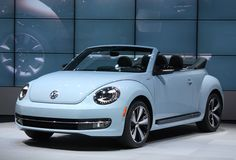 2013 VW Beetle Convertible - front three-quarter view, 60s edition, live in LA