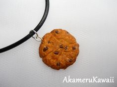 Cute Cookie Necklace by AkameruKawaii on Etsy, $7.50