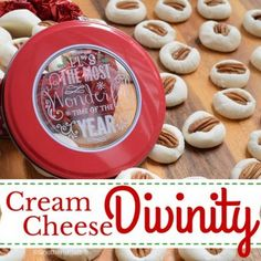 Cream Cheese Divinity Recipe Desserts with cream cheese, cream cheese, butter, powdered sugar, lemon juice, vanilla