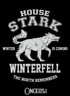 """""""Winter is Coming"""" pays a tribute to the King of the North in our Exclusive Sigil Collection."""