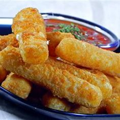 "Mozarella Sticks ""puppy dog tails"""