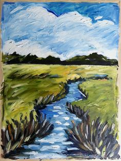 Abstract Low Country Oil Painting by DevinePaintings on Etsy, $195.00