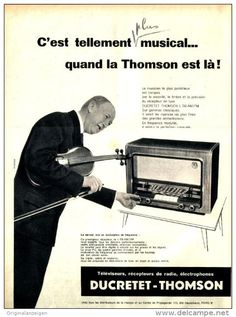 Original-Anzeige / Publicité 1957 - (en français) DUCRETET - THOMSON L756 RADIO -  ca. 240 x 320 mm