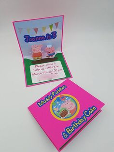 Peppa Pig Invitation Pop Up Peppa Pig by CreativeCoupleDnT on Etsy #peppapig #peppapiginvitation #peppapigbirthday #peppapigparty