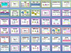 YAYYYY!!! Math Vocab Posters to go along with EnVision MATH! GRADE 3!!!!!! Topics 1-8