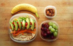 Lanches saudáveis para levar na bolsa. Frutas, nuts... Saiba o que comer saudável nos intervalos.