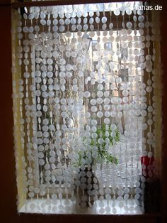 capiz shell curtain, would be pretty on a kitchen window